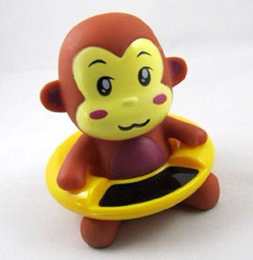 10pcs/lot Monkey Design Novelty Items Retail Baby Bath Thermometer Cartoon Swimming Circle Waterproof Thermometer(China (Mainland))