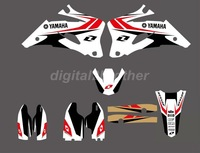 New Style0008 TEAM  GRAPHICS&BACKGROUNDS DECALS STICKERS Kits for YAMAHA YZ250F YZ450F 2006-2009