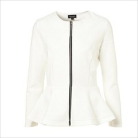 Plus Size 2012 holiday sale Style Autumn Women's White Short Suit  Blazer Foldable Coats Outwear Western-Style Clothes