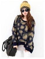 Женский пуловер manufacturers supply Women's Stripe long sleeve thin knitting dress #Y1008