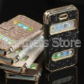 Gold Luxury Synthetic Leather Magnetic Flip Case Cover for iPhone 4 4G 4S,for iphone 4s leahter case,100pcs/Lot Free Shipping