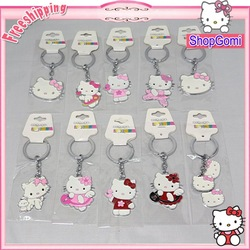 hello kitty key chains different designs fashion keychain 5pcs/lots Free Shipping(China (Mainland))