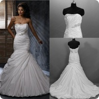 DM0345 Dreamaker 2013 the most popular hot sale strapless real sample designers wedding dresses