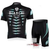 Brand New Tour de France BIANCHI Milano Cycling Clothing Jersey / Bike Wear Shirt + Shorts Sets. Free Shipping!