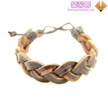 Instocked   Fashion Leather Bracelet Leather Bangle   cheap  leather bracelets