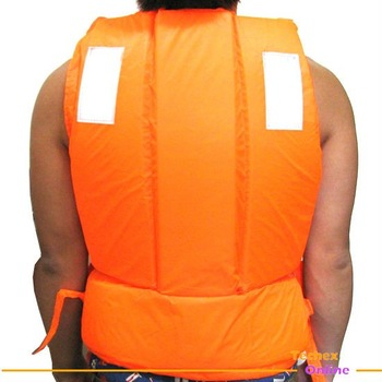 free shipping Adult Orange Foam Swimming Life Jacket Vest