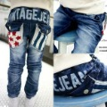 2012 autumn pentastar stripe child boys clothing baby trousers jeans 4540
