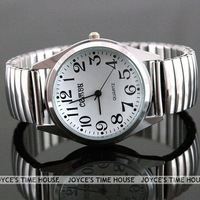 Free shipping Simple Big Numbers Stretchy Stainless Steel Men Lady Sport Casual Quartz Watch Q0032