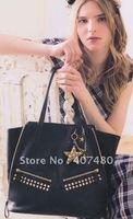 wholesale retail rivet purse punk rock cool vintage leisure Fashion Handbag Tote shoulder bag Designer Lady  girl