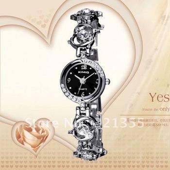 Brand Eyki Kimio, Watch Women, 2012 Ladies Crystal Bracelet Watches, Stainless Steel Quartz Dress Watches, Free Shipping!