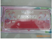 2012 Hot sales,Temporary parking car number, the license box, cartoon car license plate frame,free shipping,drop shipping
