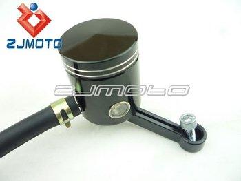 Black Motorcycle CNC Billet Brake / Clutch Fluid Reservoir With Mounting Bracket for Honda Kawasaki Suzuki Yamaha Ducati
