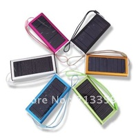 Free Shipping for Solar Power charger LED Torch 1350mAH Multi Solar Battery Charger for Mobile phone PDA mp3/mp4 / Camera