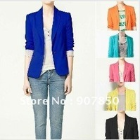 Candy colors WOMAN SUIT FOLDABLE SLEEVES COAT