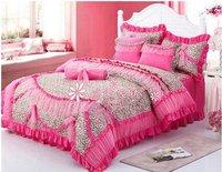 120382  Fedex free shipping! wholesale Romantic princess bed/bedding set