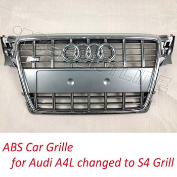 oringnal quality ABS Car Mesh Grille for Audi A4 B8 changed to S4 Grill for front Grille  fits for: s4 sline standard bumper