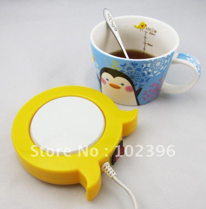 20pcs/lot Tea usb heater Coffee cup warmer Milk usb warmer pad Mini Size Good Quality(China (Mainland))