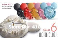 New Arrival Free Shipping+5 pcs/lot MEIDI CLOCK Lovely/stereo/digital children room wall clock.