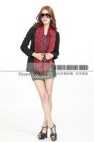 2014 Newest 100% Silk  Red Leopard Printing Chiffon Scarves 195CM Length