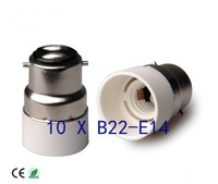 Free shipping Conversion LED lamp holder B22-E14 / Lighting Accessories / B22 to E14 10pcs