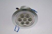7W dimmable high quality high power Ceiling Recessed Lights ,SMD led LED downlight  free shipping