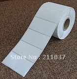 75*45*2000 / bar code label printing paper wholesale paper barcode / label / copper plate paper
