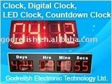 Outdoor led temperature display clock