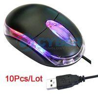 10Pcs/Lot Hot Sale USB 3D Optical Wheel Mouse For PC/Laptop Free Shipping