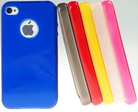 Free Shipping, TPU Soft Case For iphone 4s, Clear Back Cover, Soft Case for Iphone 4G/4s