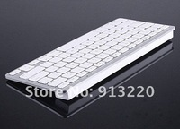 Free DHL 60pcs Wireless Bluetooth Keyboard For Apple Mac iPad 2 3 iPhone 4G 4S Tablet PC white in stock