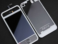Transparent  White LCD Display Digitizer Touch Screen+Back Housing Cover Assembly Clear For iPhone 4 4G