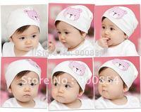 MZ#020 MEDO&JOJO lovely little bear sticked  children caps /cotton children hat baby hat 10pcs=1lot  MIX COLORS