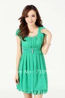 Free shipping missfeel low price high quality women's dress& fashion silk dress&low price dress for women  S M L XL