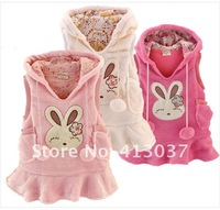 New arrival wholesale 5 pieces/lot 2012 Cute bunny wearing hat vest / vest skirt Top Coat 3 Colors free shipping