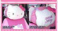 Free shipping,hello kitty car accessories,Car Head Restraint,two sides cartoon head pillow.car interior decoration