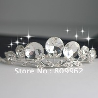 Free Shipping 3pcs/lot Fashion Imitated Diamond Hair Accessories For Woman Crystal Princess Crown Wedding Jewelry Head Piece