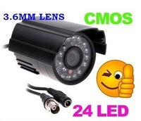 NEW 24 LED Color IR Night Vision Indoor/ Outdoor CMOS Security CCTV Camera free shipping