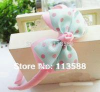 15pcs/lot  Free shipping 1cm width pink rib belt  hair band hair headband HA0020