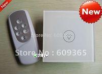 China Hilti Crystal tempered glass panel ,EU Standard 1 gang remote control touch switch, 315/433Hz,AC 110V-240V,CE