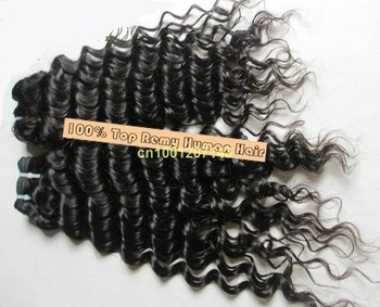 5pcs/lot 100% real human hair extension hair wevaing hot sale fashional deep wave Peruvian remy hair