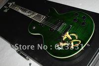 Wholesale Best Musical instruments green slash Electric Guitar Snake Board.