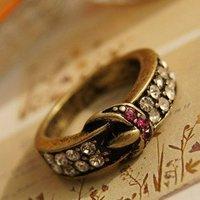 5pcs/lot vintage brilliant belt ring finger ring fahion jewelry US size(4.5) R1056