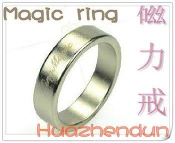 Free shipping 5pcs/lot Free shipping! Silver Non-engraved Magnetic rings/PK ring/Magic toys/magic tricks/magic props