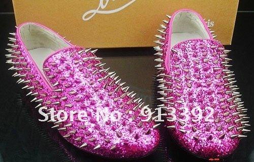 2013 Drop shipping Fashion Classic Vogue Flats Men Casual Spikes ...
