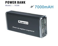 High Quality 7000mAH External Battery Charger Power Bank 2 Dual USB for iPad iPhone