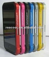 Retail Package Vapor Aluminum Bumper Case for Iphone 4 4S With Carbon Cover