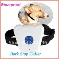 30pcs/packOPP bag Ultrasonic Bark Stop Control Barking Dog Collar