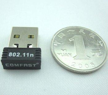*10 Pcs Free Shipping Post : USB WiFi Nano Wireless LAN Adaptor 802.11 b/g/n Mini Network Card Adapter - Realtek RTL8188 150Mbps