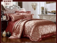 120436 100% Tencel Luxury4pcs bedding set  European-style home textile  free shipping