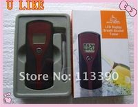 Free shipment Digital LCD Display Alcohol Breathalyser Breath Tester